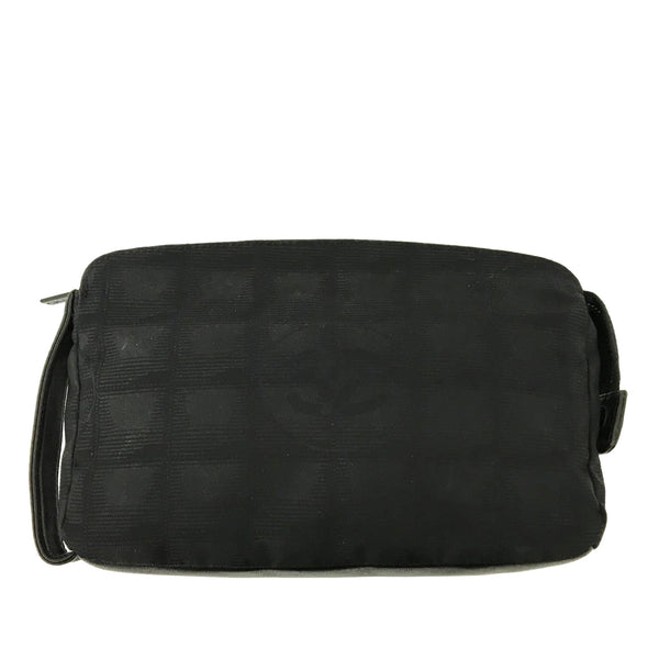 Black Chanel New Travel Line Pouch