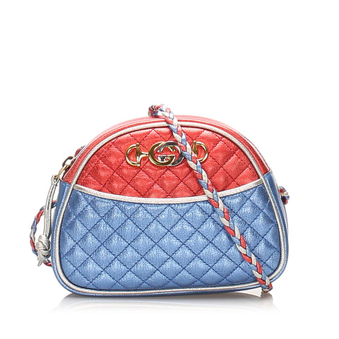 Red Gucci Trapuntata Leather Crossbody Bag