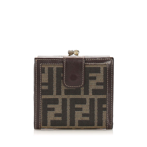 Brown Fendi Zucca Canvas Wallet