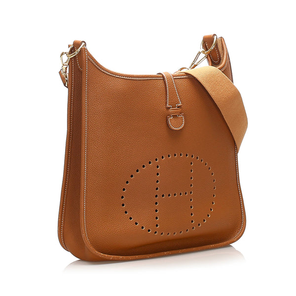 Brown Hermes Evelyne GM Bag