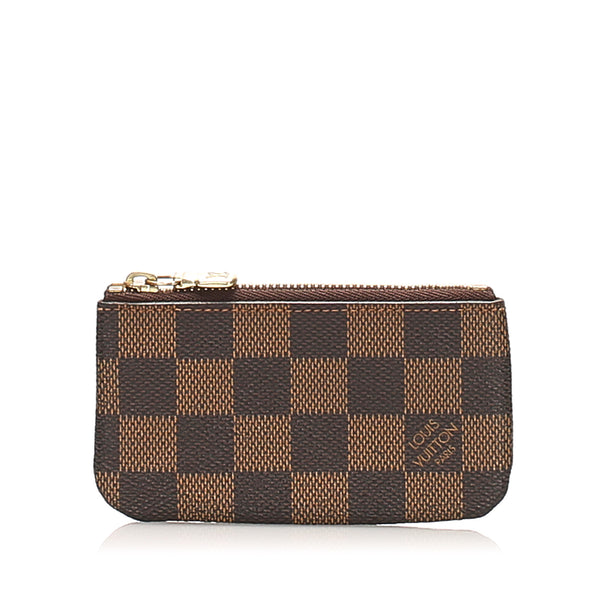 Brown Louis Vuitton Damier Ebene Key Holder