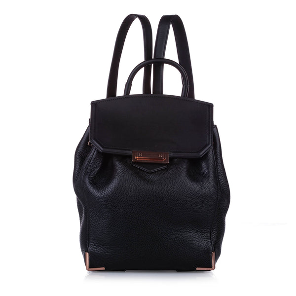 Black Alexander Wang Prisma Skeletal Leather Backpack Bag