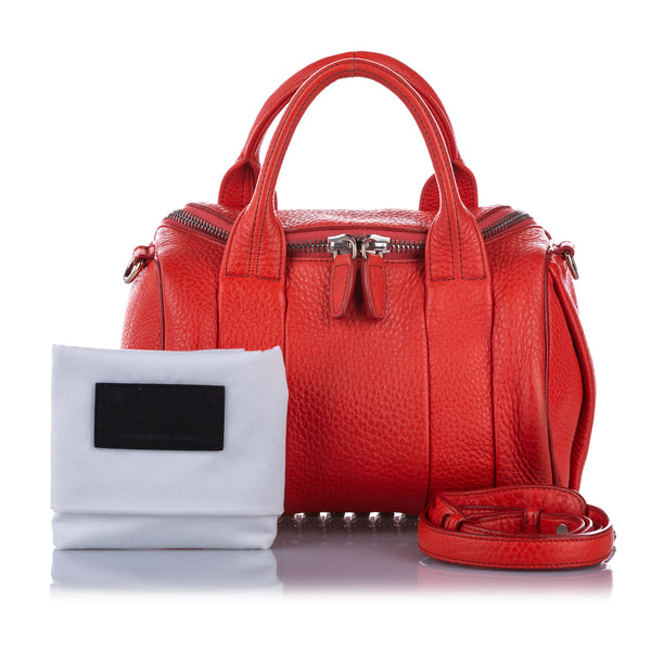 Red Alexander Wang Rockie Leather Satchel Bag
