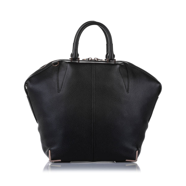 Black Alexander Wang Prisma Emile Leather Satchel Bag
