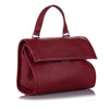 Red Balenciaga Tools Leather Satchel Bag
