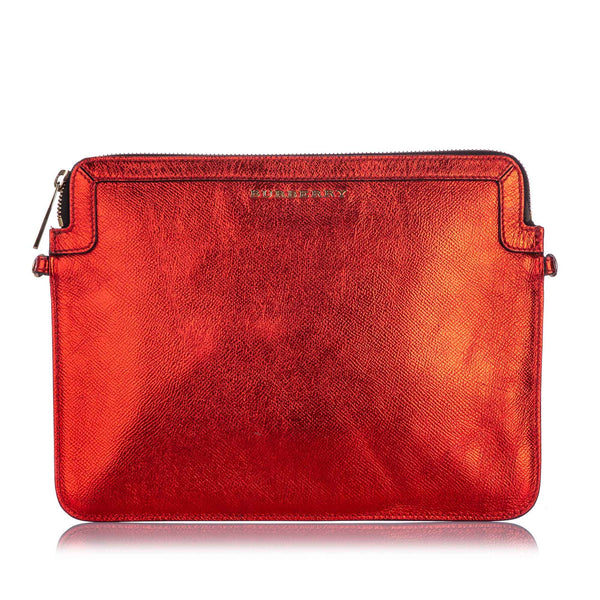 Red Burberry Leather Crossbody Bag