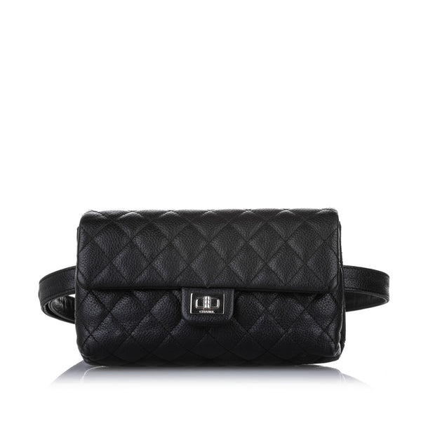 Black Chanel Caviar Reissue Belt Bag