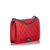 Red Chanel XL Double Stitch Boy Bag