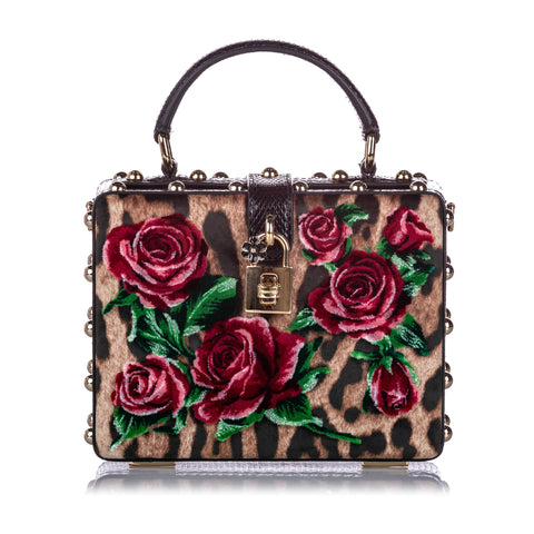 Multi Dolce&Gabbana Rose Box Velvet Satchel Bag