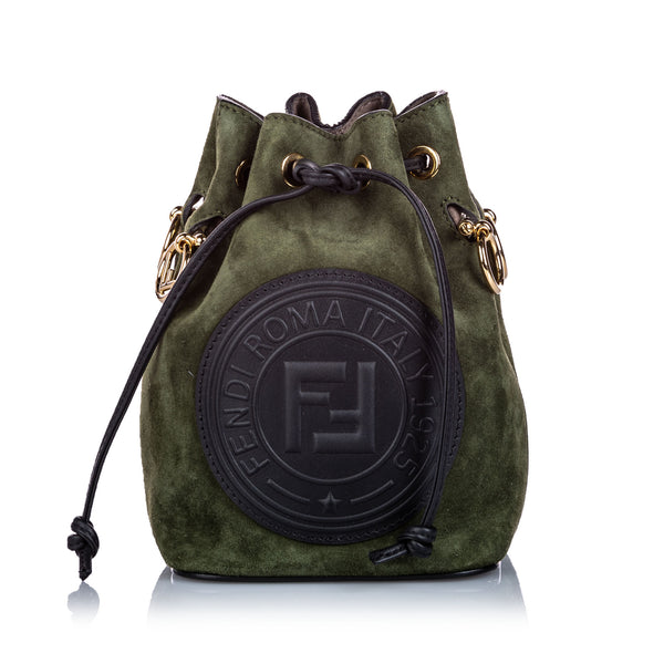 Green Fendi Suede Mini Mon Tresor Bag
