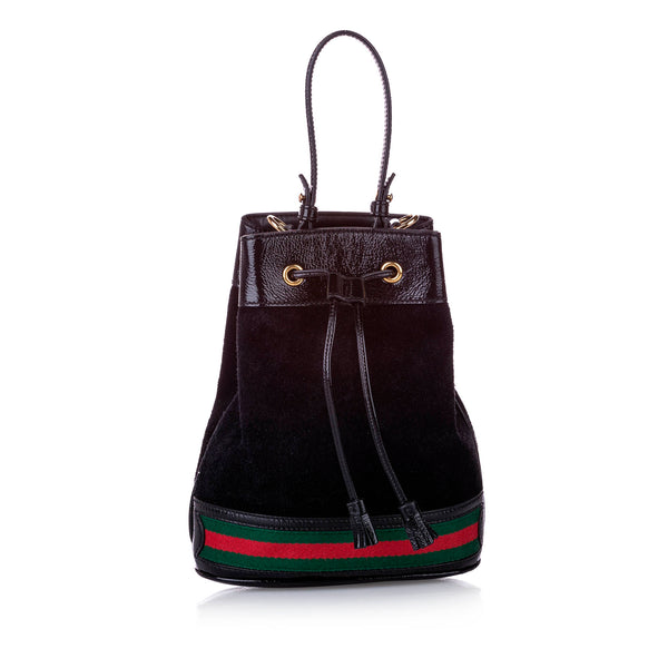 Black Gucci Small Ophidia Suede Bucket Bag