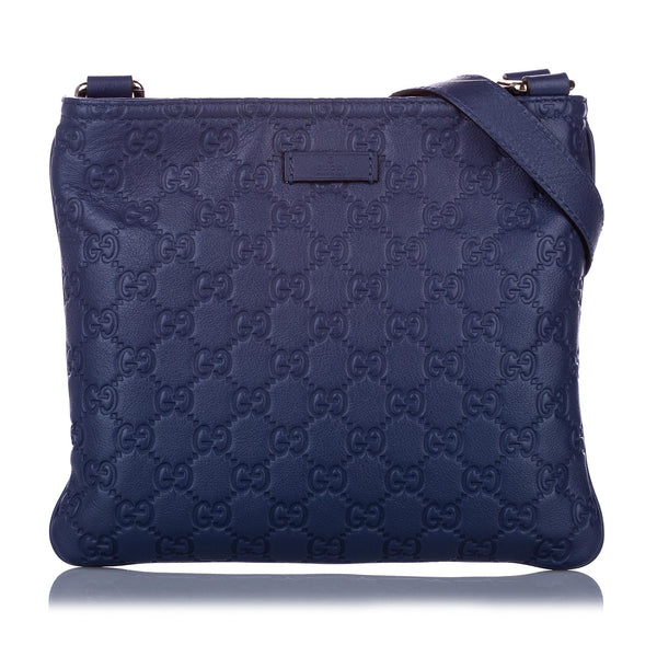 Blue Gucci Guccissima Crossbody Bag