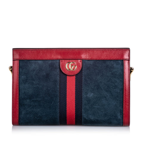 Blue Gucci Small Suede Ophidia Bag