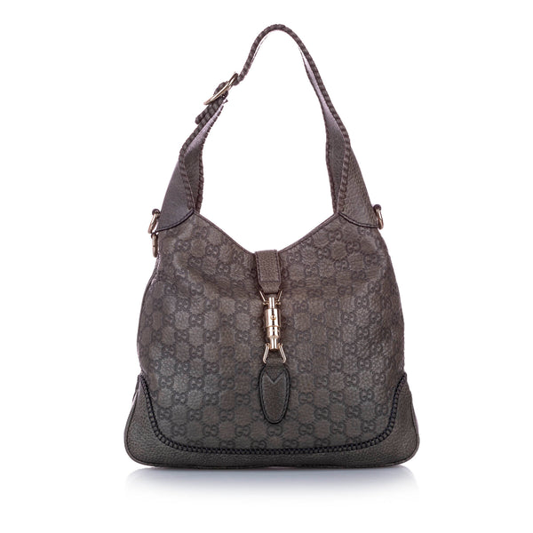 Brown Gucci Guccissima New Jackie Satchel Bag