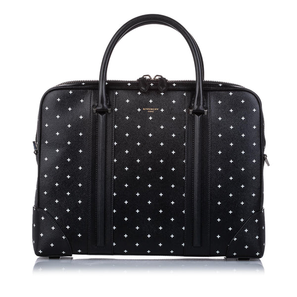 Black Givenchy Printed Leather Briefcase Bag