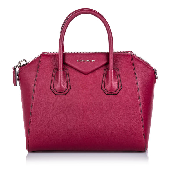 Red Givenchy Medium Leather Antigona Bag
