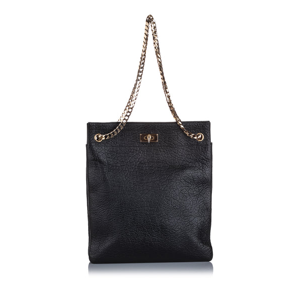 Black Givenchy Shark Tooth Chain Tote Bag