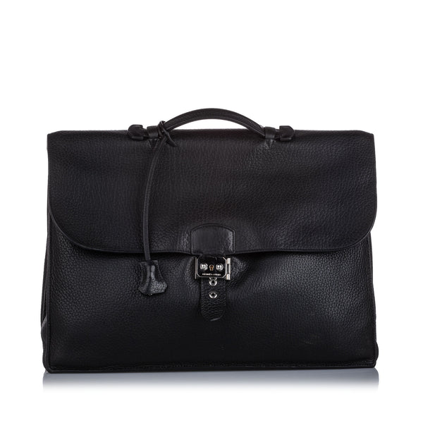 Black Hermes Togo Sac a Depeches 41 Bag