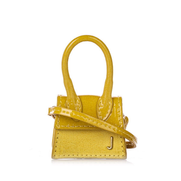 Yellow Jacquemus Le Petit Chiquito Leather Crossbody Bag