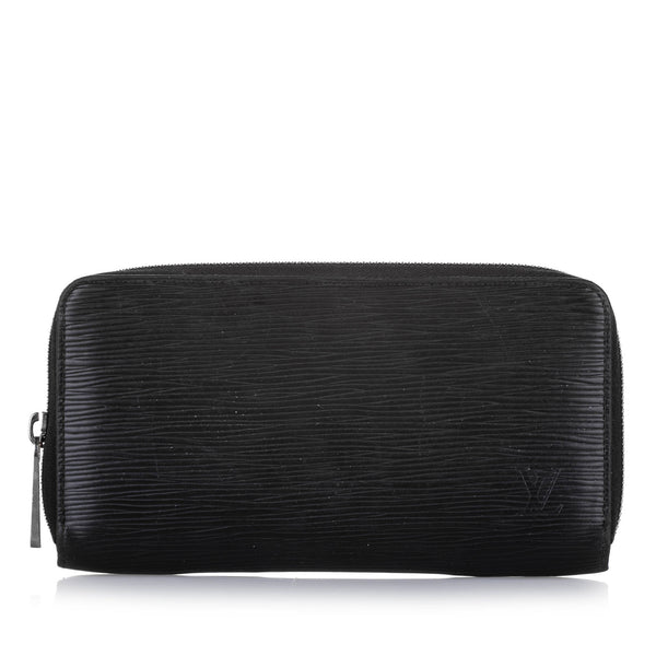 Black Louis Vuitton Epi Zippy Long Wallet