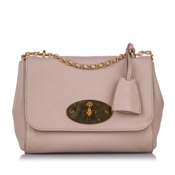 Pink Mulberry Small Lily Leather Crossbody Bag