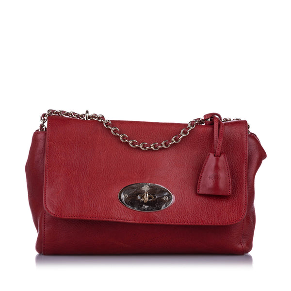 Red Mulberry Medium Lily Leather Shoulder Bag