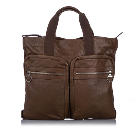Brown Mulberry Leather Tote Bag