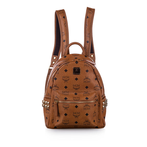 Brown MCM Visetos Leather Backpack Bag