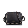Black Valentino Rockstud Leather Crossbody Bag
