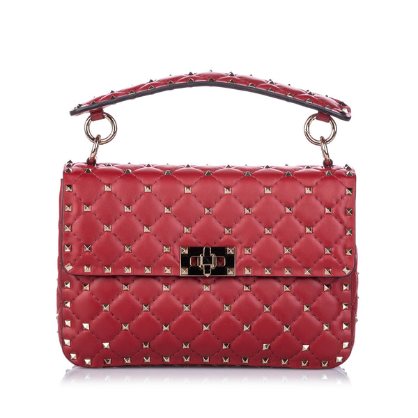 Red Valentino Medium Rockstud Spike Satchel Bag