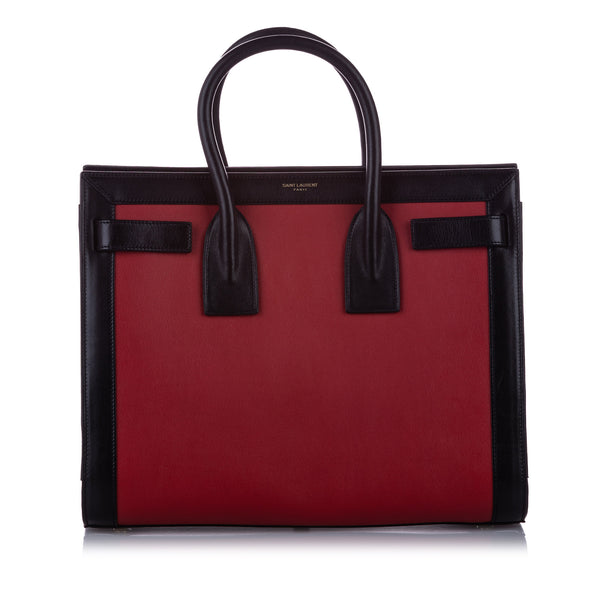 Red YSL Sac de Jour Leather Satchel Bag