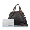 Black Chloe Paraty Leather Satchel Bag