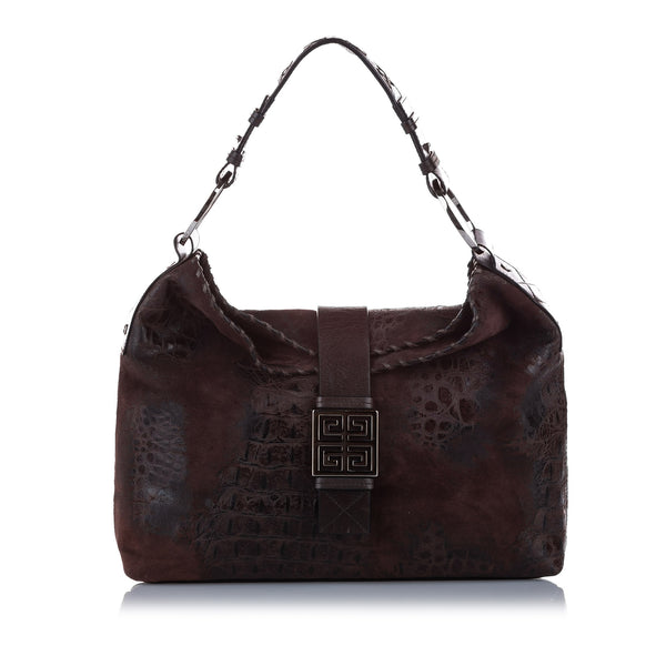 Brown Givenchy Leather Shoulder Bag