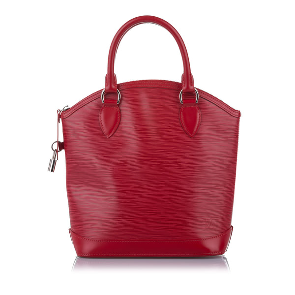 Red Louis Vuitton Epi Lockit Vertical Bag