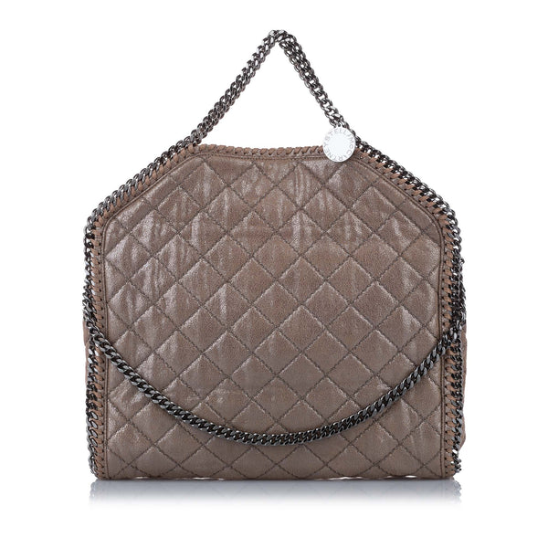 Brown Stella McCartney Quilted Falabella Tote Bag