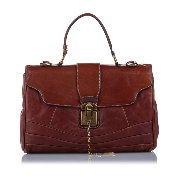 Brown Dolce&Gabbana Leather Business Bag