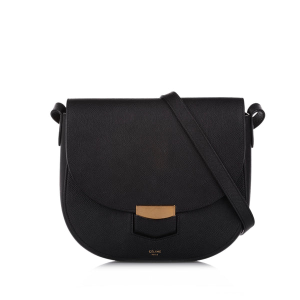 Black Celine Compact Trotteur Crossbody bag Bag