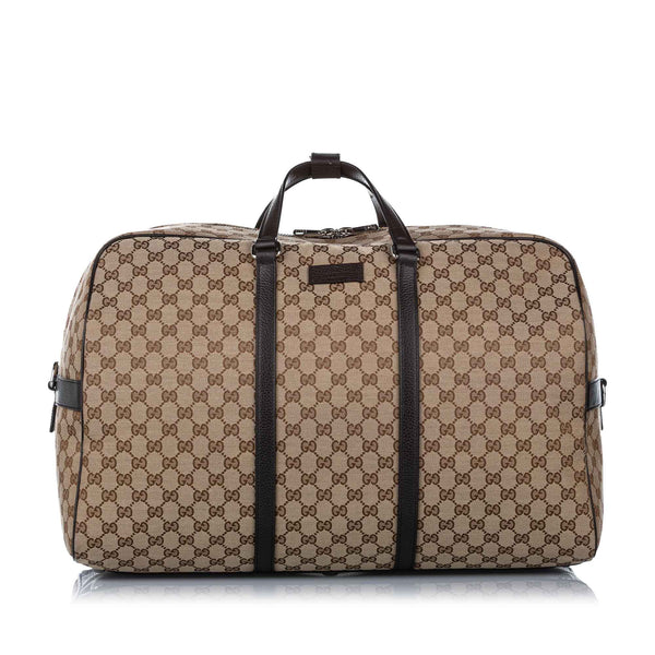 Brown Gucci GG Canvas Travel Bag