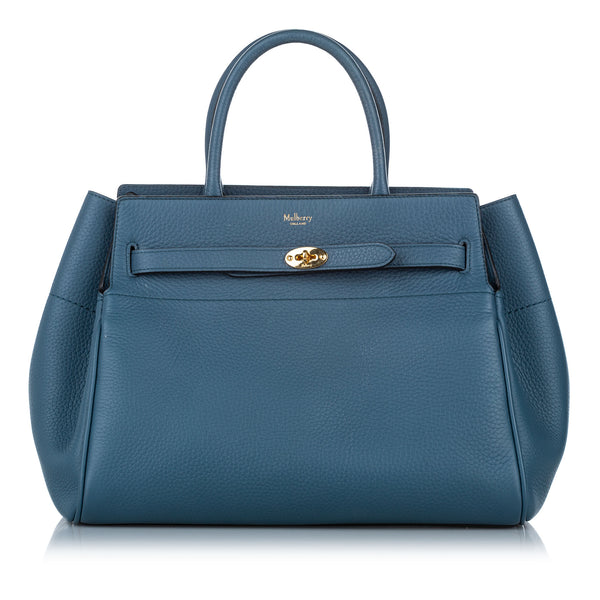 Blue Mulberry Zipped Bayswater Leather Handbag Bag