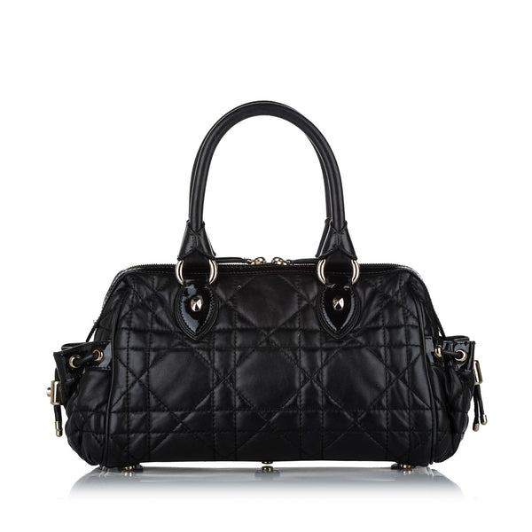 Black Dior Cannage Leather Handbag Bag