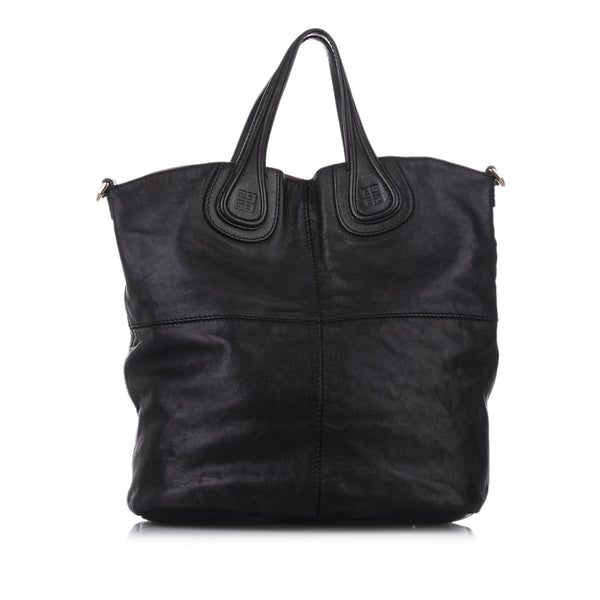 Black Givenchy Nightingale North South Leather Tote Bag