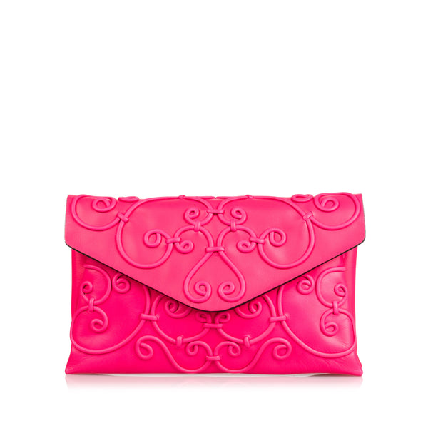 Pink Valentino Intricate Clutch Bag