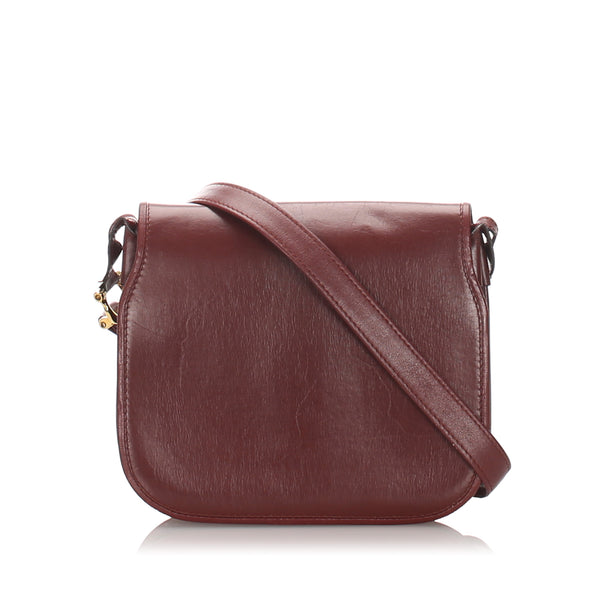 Red Cartier Must de Cartier Leather Crossbody Bag