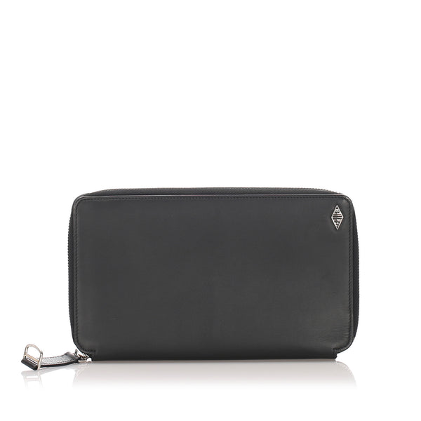 Black Cartier Leather Long Wallet