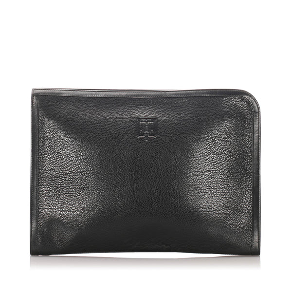 Black Celine Leather Clutch Bag