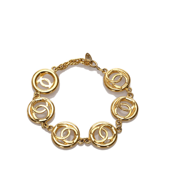 Gold Chanel CC Chain Bracelet