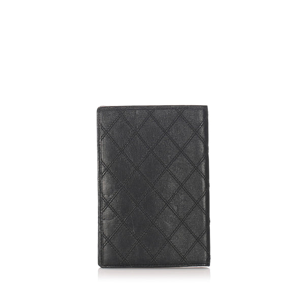 Black Chanel Surpique Leather Wallet