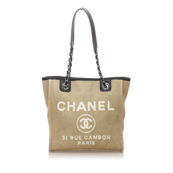 Brown Chanel Small Deauville Tote Bag