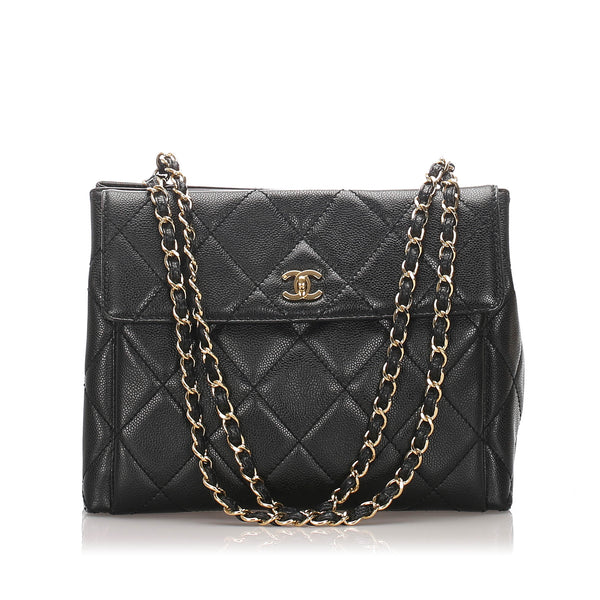 Black Chanel Caviar Tote Bag