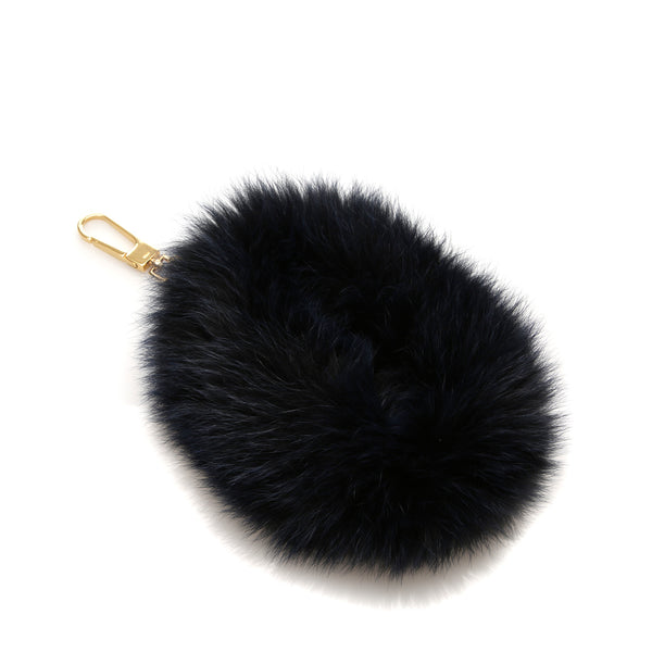 Blue Chloe Fur Bag Charm